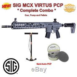 22 Cal Sig MCX Virtus Combo, 30 Rd, PCP RIFLE, SemiAuto, Warranty