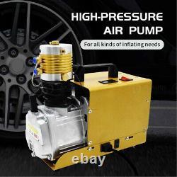 30MPA High Pressure PCP Air Compressor Auto-Stop Airgun Rifle Pump Paintball USA