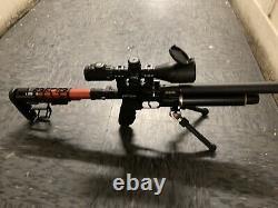 AEA HP SEMI AUTO SS. 25 Caliber PCP air rifle FOLDING STOCK PLUS