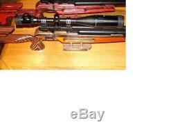 ATI Nova Liberty PCP Air Rifle With Custom Orange Silver and Black Laminated Stock