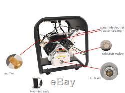 Adjustable auto stop double cylinder pcp air compressor for air rifles 4500psi