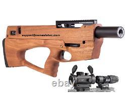 Ataman BP17 PCP Bullpup Air Rifle. 22 Cal Sapele Redwood Stock + Tactical Optics