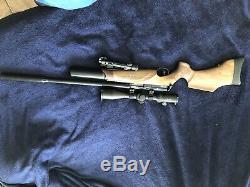 BSA R-10 R10 SE. 22 Cal Walnut Stock PCP Air Rifle. Scope Not Included