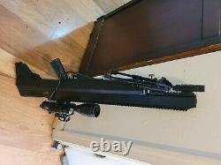 Benjamin Bulldog. 357 PCP Hunting Rifle 910 FPS with Reversible Side Lever B A