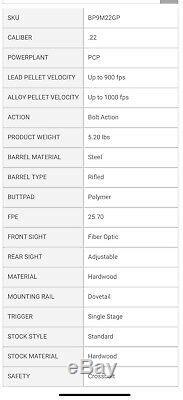 Benjamin Discovery PCP Rifle & Pump, Air or CO2. Dual Fuel..22 cal