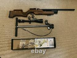 Benjamin Kratos. 22 Caliber PCP-Powered Side Lever Hunting Air Rifle With Scope
