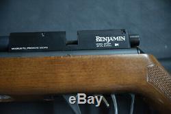 Benjamin Marauder. 22 caliber PCP Rifle Wood Stock +3 Cartridges and pellets