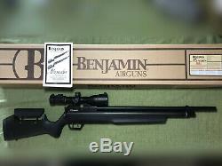 Benjamin Marauder. 25 Caliber PCP Air Rifle with Scope, Pump, Air Tank, & MORE
