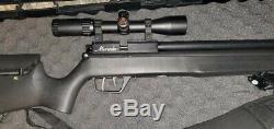 Benjamin Marauder. 25 Caliber PCP Air Rifle with Scope, Pump, Pellets, Case, Mags