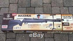 Benjamin Maximus 22. Cal. PCP Powered Kit Air Rifle With scope and pump
