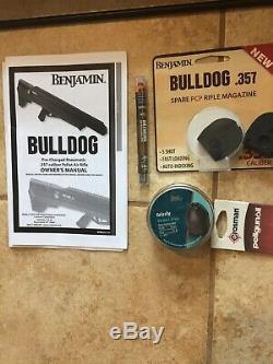 Benjamin Sheridan BPBD3S Bulldog. 357 PCP Air Rifle Never Shot! + Extras Look