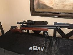 Benjamin marauder. 25 with Firefield 4-16X42 AOE scope and PCP air pump