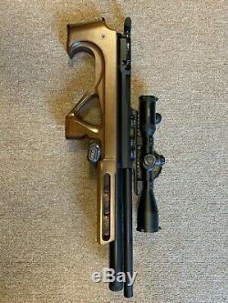 EdGun R3M Matador Short PCP. 25 Cal Bullpup Air Rifle with Hawke Airmax 30