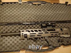 Evanix 3D Bullpup Rainstorm pcp. 25 cal pellet rifle w 2.5-10 x40 scope, laser