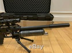 FX Impact PCP. 30 Caliber Air Gun Rifle Black with Case 2 Mags & 3 Tins Pellets