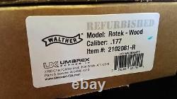 Factory Refurbished Walther Rotek. 177 PCP Air Gun Rifle Wood Stock