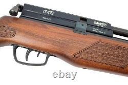 Gamo Whisper Fusion Coyote. 22 Caliber PCP Air Rifle Wood Stock/Noise Supression