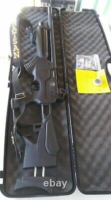 Hatsan Barrage 25 cal. Semi Auto PCP hard to find in stock anywhere shot 2 tins