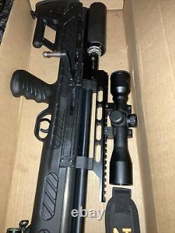 Hatsan Bull boss. 25 Cal PCP Rifle Scope And Laser Plus More Included