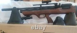 Hatsan Flashpup QE PCP Air Rifle. 22 Complete set up ncluding pump case extra