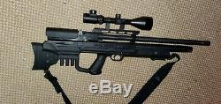 Hatsan Gladius BULLPUP PCP. 25 Hunting Air Rifle with scope and manual pump