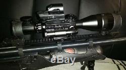Hatsan Hercules Bully Pcp Air Rifle. 35 Cal Black Synthetic Stock