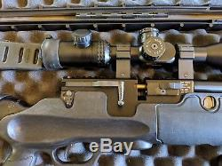 Hatsan Hercules PCP QE. 35 cal Rifle, Hammers 4-16x50 FFP Scope, Case, Ammo
