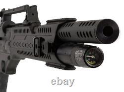 Hatsan Invader Auto. 25 Cal Semi-Auto PCP Air Rifle with Tactical Optics & Pellets