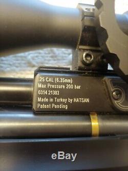 Hatsan PCP Air Rifle (AT44-10QE). 25cal