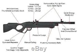 Hatsan Vectis. 25 PCP Lever Action Repeater Air Rifle, Synth Stock HGVectis25