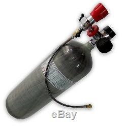High Pressure Air Rifle PCP 9L CE 4500Psi SCBA Cylinder Carbon Fiber Tank Kits