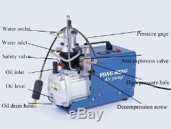High Pressure Electric Air Pump 30Mpa PCP Compressor Scuba Rifle 220V 4500PSI