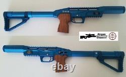 Limited Edition EDGUN Leshiy. 22 (PCP Air Rifle) Pellet Gun BLUE Finish 2