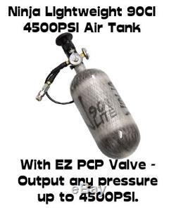 Ninja PCP Air Rifle Fill Station 90ci LITE Tank / 4500psi With EZ Regulator