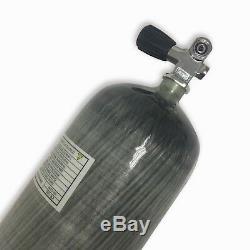 PCP Air Rifle 9L CE 4500Psi Scuba Diving Cylinder Carbon Fiber Tank with Valve