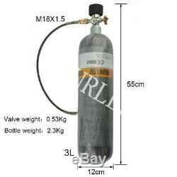 PCP Paintball Air Rifle 3L CE 30Mpa 4500psi Carbon Fiber Pressure Tank Cylinders