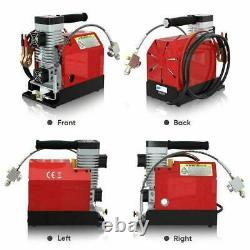 Portable PCP Air Rifle Compressor Pump 12V / 110V High Pressure 30MPa/4500psi