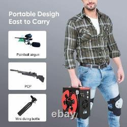 Portable PCP Pump Air Rifle Compressors 30MPa/4500psi/300Bar 12V/110V Auto-Stop