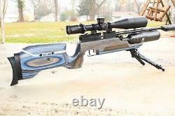 RAW HM1000X LRT PCP Air Rifle. 22 Blue Laminate