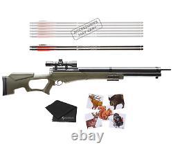 Umarex AirSaber Air Archery PCP Arrow 4x32 Scope Air Rifle and Wearable4U Bundle