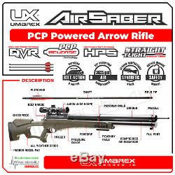 Umarex AirSaber Air Archery PCP Arrow Air Rifle 4x32 Scope and Wearable4U Bundle
