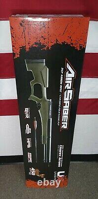 Umarex AirSaber PCP Arrow Rifle 450FPS Airgun, Black/Green 2252659