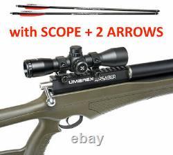 Umarex AirSaber PCP Hunting ARROW Air Rifle 4x32 SCOPE, 2 CARBON FIBER ARROWS