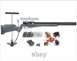 Umarex Origin Air PCP Rifle. 22 Cal with Air Hand Pump & Wearable4U Bundle