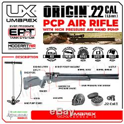 Umarex Origin Air PCP Rifle. 22 Cal with Targets and Lead Pellets Bundle