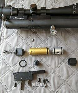 Upgraded Regulated Benjamin Marauder. 22 Real Wood PCP Air Rifle with Scope